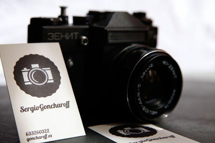 Визитка для фотографа