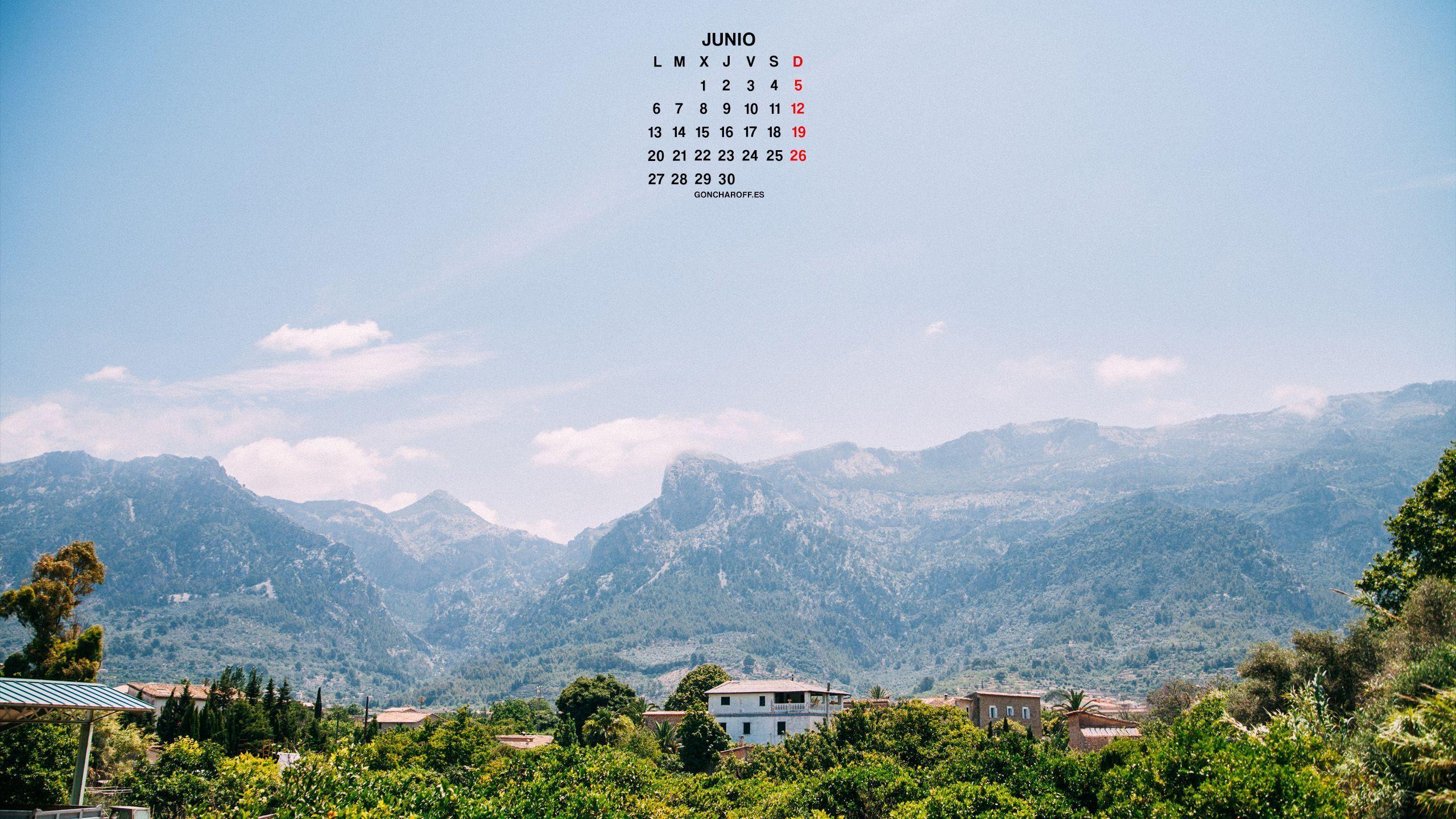 Calendario de Junio 2016 descargar gratis