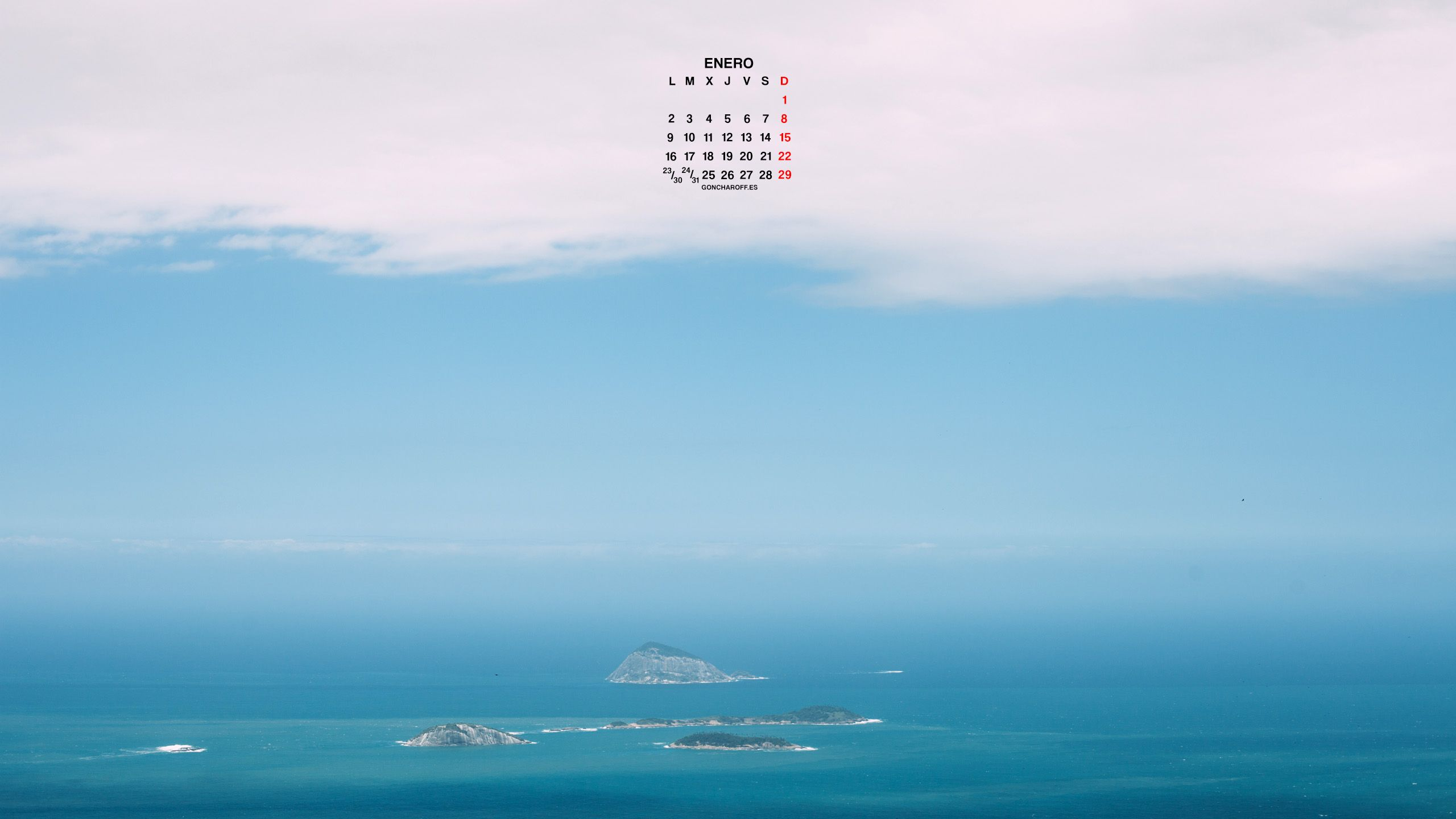 Calendario de Enero 2017 descargar gratis