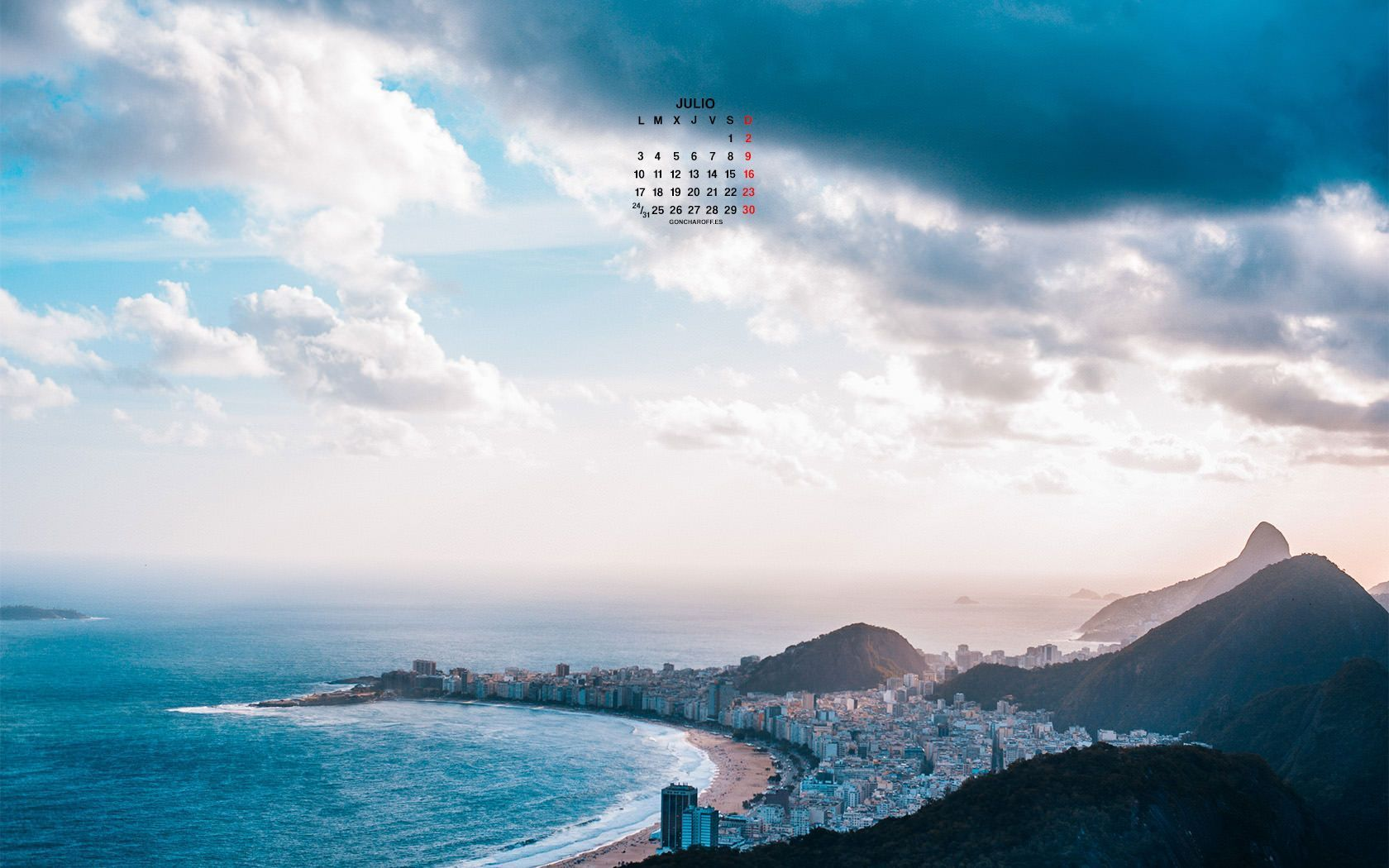 Calendario de Junio 2017 descargar gratis