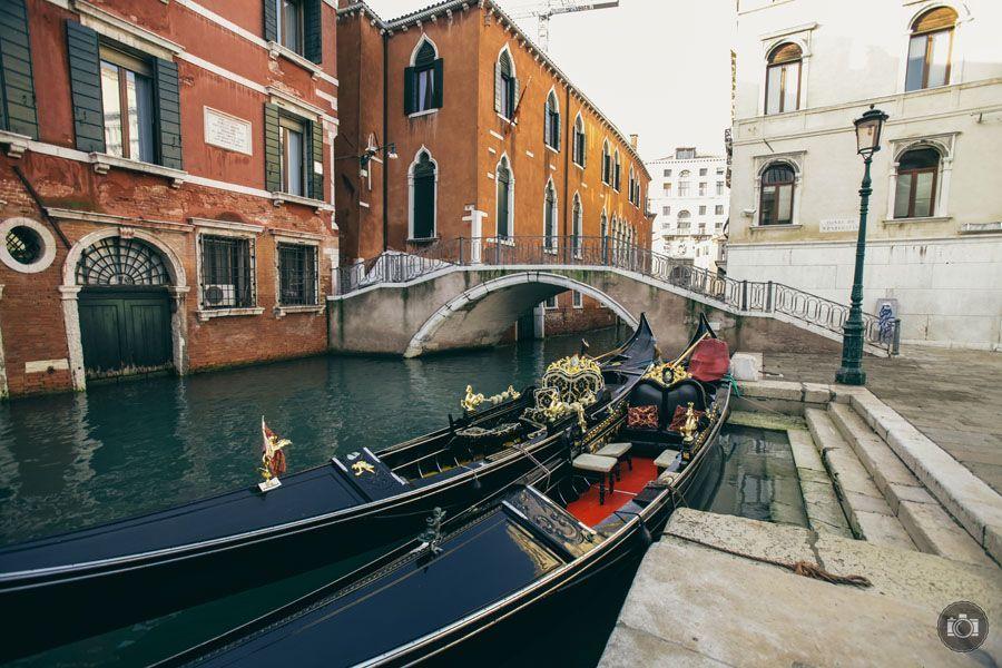 Las gondolas en Venecia